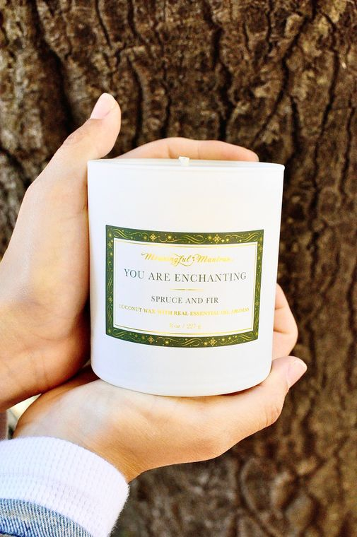 You Are Enchanting - Spruce & Fir 8oz Candle - The Self-Care Seed Co.