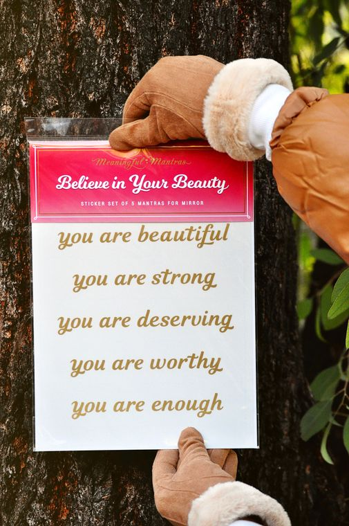 Believe In Your Beauty Mirror Decals - The Self-Care Seed Co.