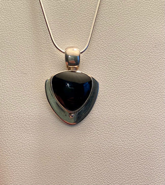 Onyx and Sterling Necklace