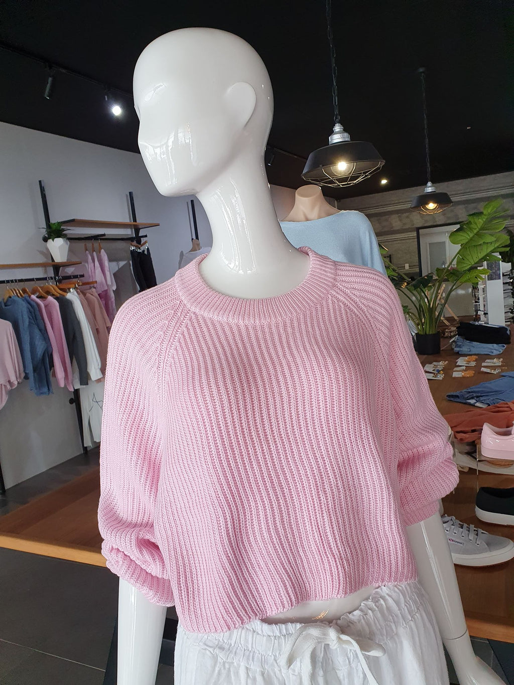 CBI CUTE AS A BUTTON KNIT - PINK
