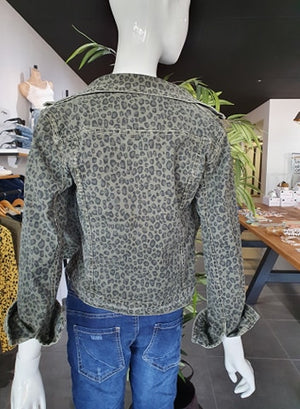 AMICI REVERSIBLE ANIMAL PRINT JACKET - MILITARE