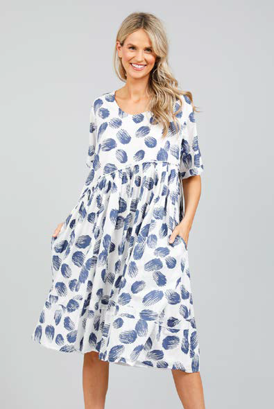 HOLIDAY ARUBA DRESS - POMELO PRINT