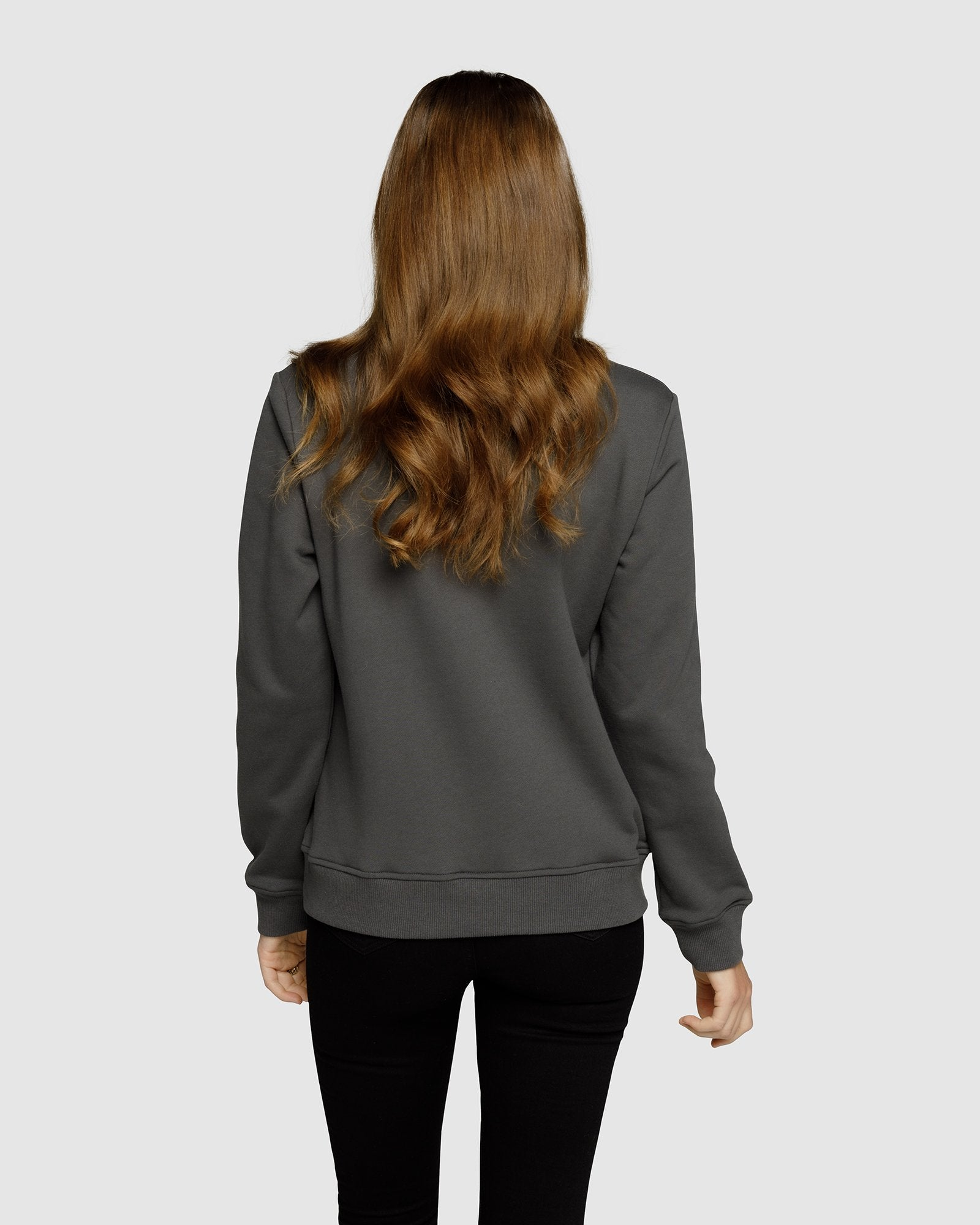 APERO EMBROIDERED JUMPER - CHARCOAL/BLACK