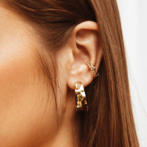 MINC COLLECTIONS DAISY HOOPS - GOLD