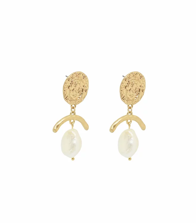 BLING BAR DOLCE PEARL EARRINGS