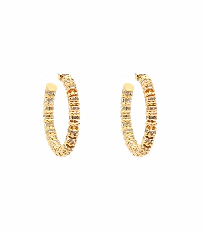 BLING BAR FRIDA JEWELLERY HOOPS - CLEAR CRYSTAL