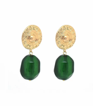 BLING BAR HELEN EARRINGS - GREEN