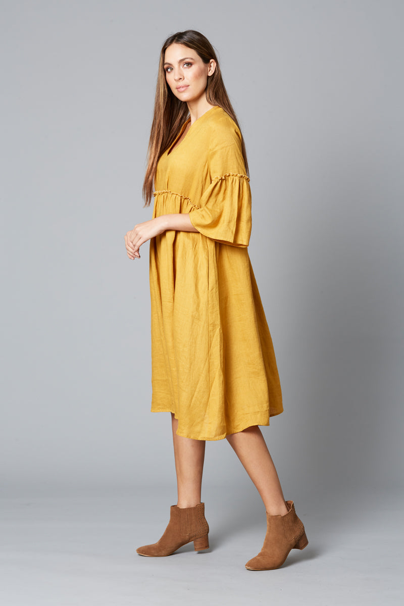 ISLE OF MINE EVE DRESS SAFFRON
