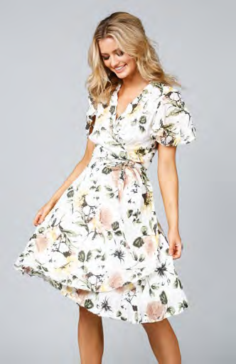 Shanty corp mandalay wrap dress - tuscan garden