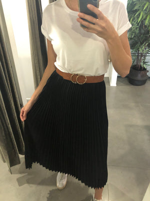 CHOSEN BY ISPYIT DYLAN PLEATED SKIRT - BLACK