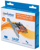 4-Port SuperSpeed USB Low-Profile PCI Express Card Packaging Image 2