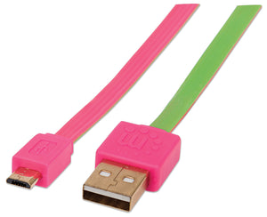 Flat Hi-Speed USB Micro-B Device Cable Image 1