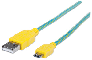 Braided Hi-Speed USB Micro-B Device Cable Image 1