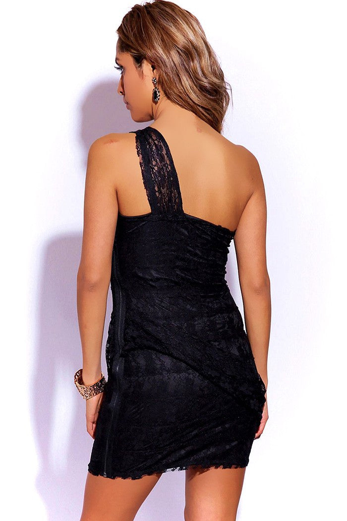LACE DRAPE DRESS