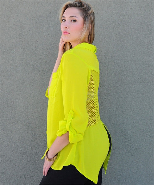 NEON LIME LONG SHIRT