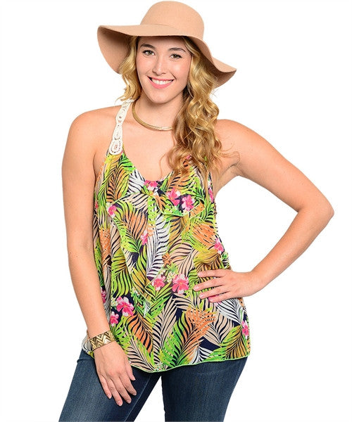TROPICAL CROCHET TOP