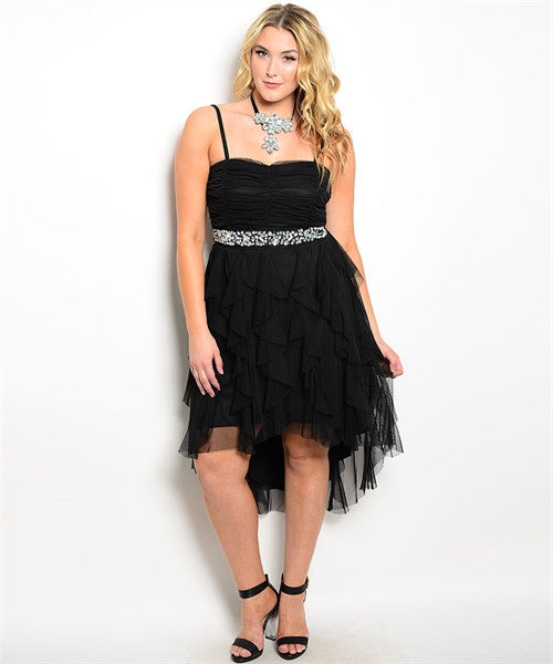 HIGH LOW BEADED DRESS