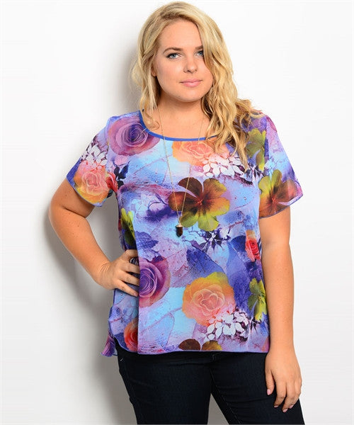 COLOURFUL FLOWER SHIRT