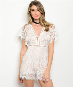 c461209bab CREAM LACE PLAYSUIT – Fashion Pop