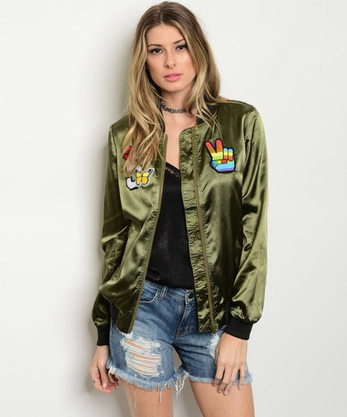 DREAM SATIN BOMBER JACKET
