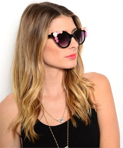 CAT EYE FLOWER SUNGLASSES
