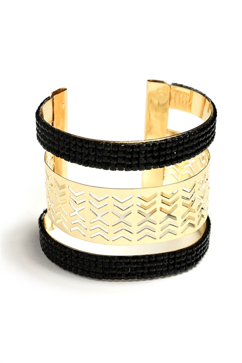 MULTI STONE CUTOUT LAYER CUFF