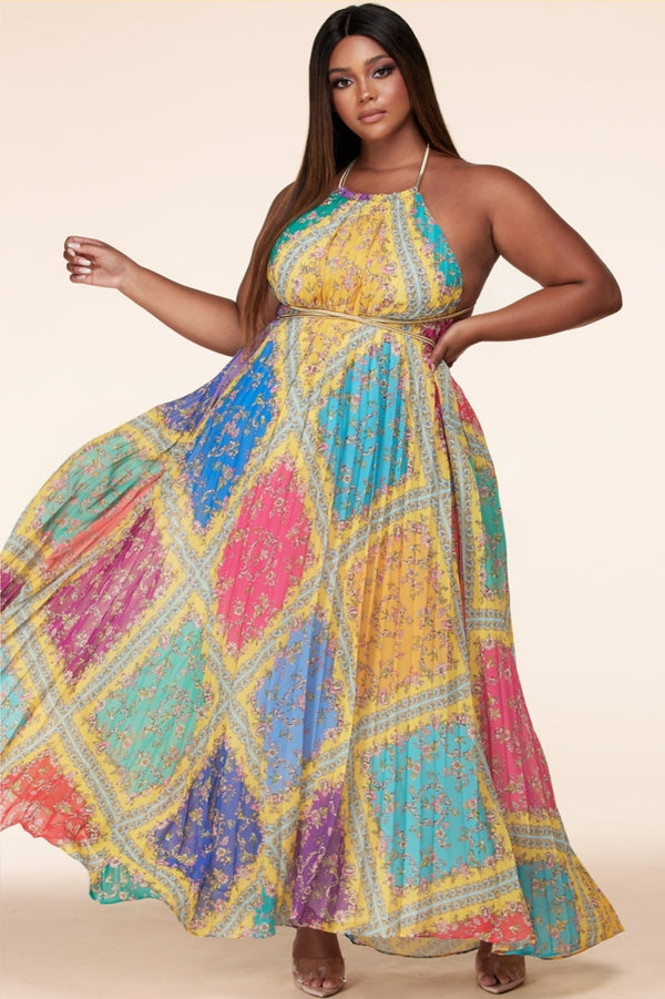 COLOUR POP MAXI DRESS