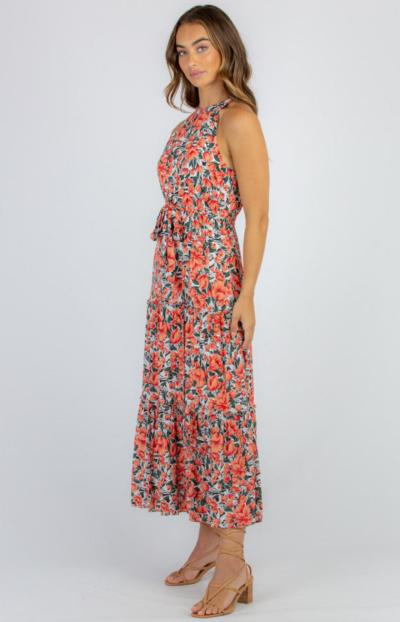 FLORAL DRESS HIGH NECK MAXI DRESS 🇭🇲 Free shipping in AUS
