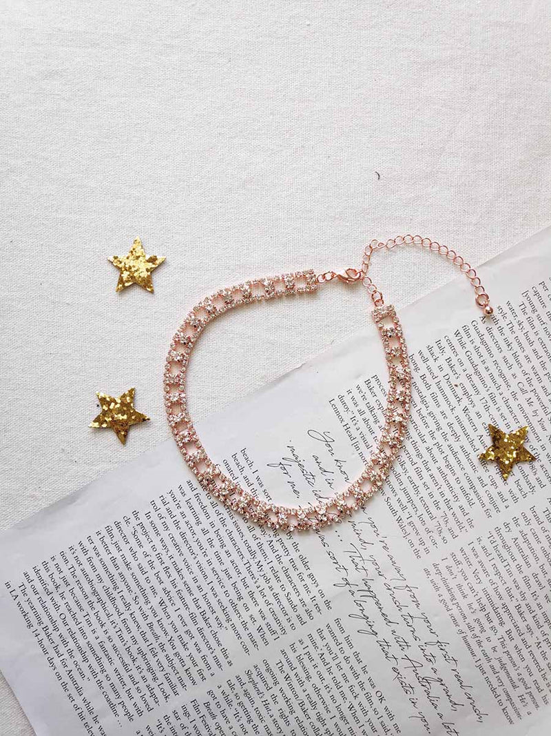 DIAMONTIE ROSE GOLD CHOKER