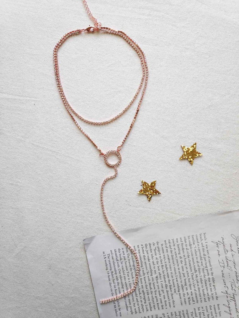ROSEGOLD DIAMONTIE DROP NECKLACE 🇦🇺