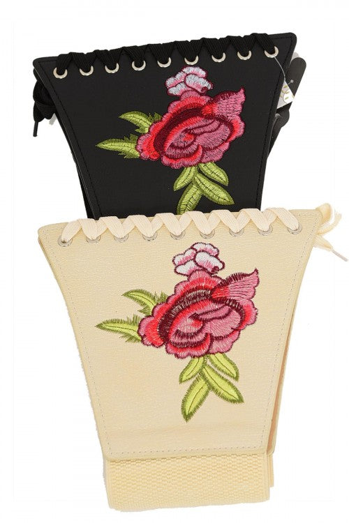 FLOWER POWER ROSE CORSET BELT