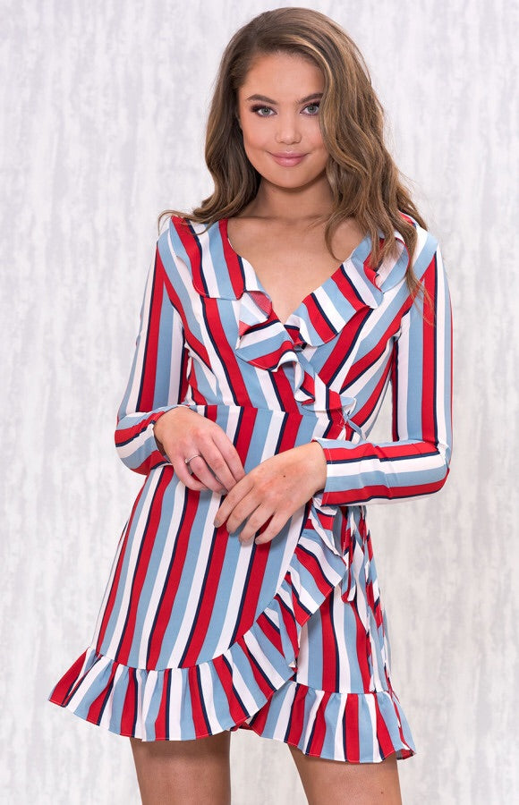 POP STRIPED DRESS