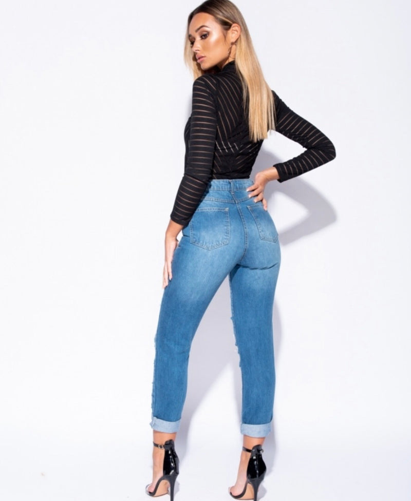 BOYFRIEND HIGH WAISTED JEANS