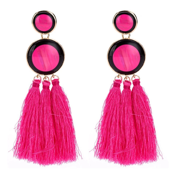 STATEMENT TASSEL EARRINGS