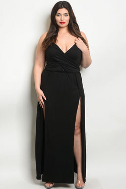 BLACK CURVE MAXI DRESS