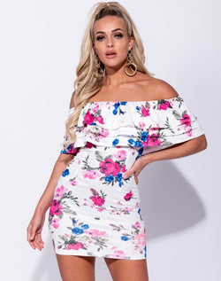 FLORAL LOVE OFF THE SHOULDER DRESS
