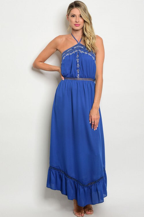 BOHO BACKLESS MAXI