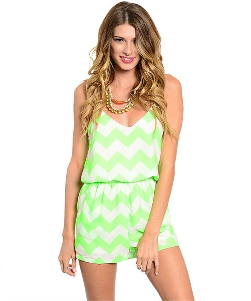 AZTEC LIME PLAYSUIT