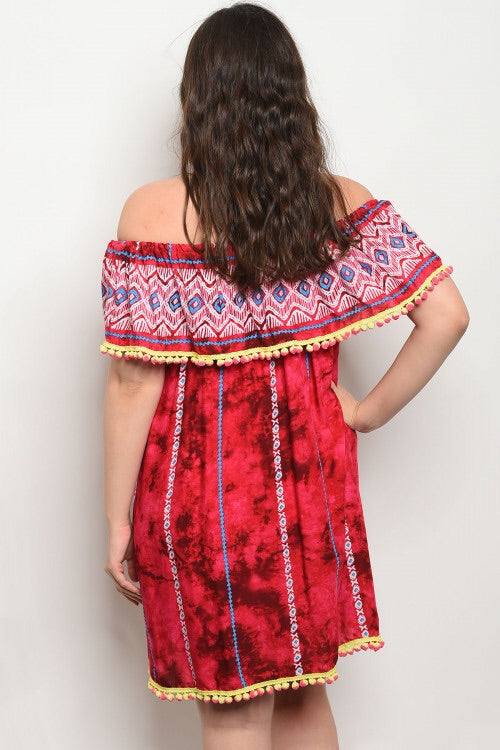 PLUS SIZE POM POM DRESS
