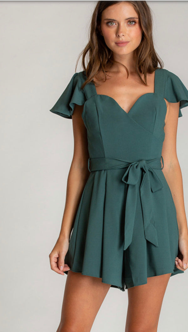 TEAL LOVE PLAYSUIT