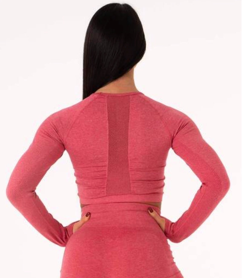 SEAMLESS LONG SLEEVE CROP RYDERWEAR