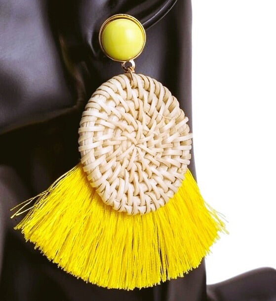 CANARY TASSEL EARRINGS