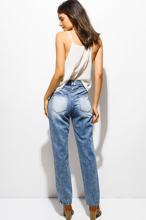 HIGH WAISTED BOYFRIEND JEANS