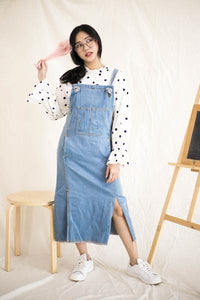 YANN DENIM PINAFORE DRESS