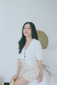 UQMADE LINEN BUTTONADE TOP ( LAST 5 PIECE )