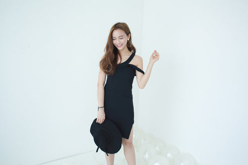 TIBBY BLACK DRESS #UQMADE (6324372484)