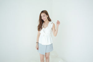 JOYE VEST TOP WHITE #UQMADE (6318887364)