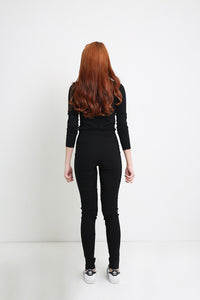 Selby Navy Black Pant