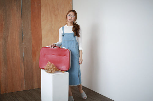 YANN DENIM PINAFORE DRESS (8446854472)