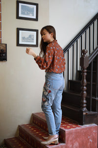 Dena Floral Embroidered Jean